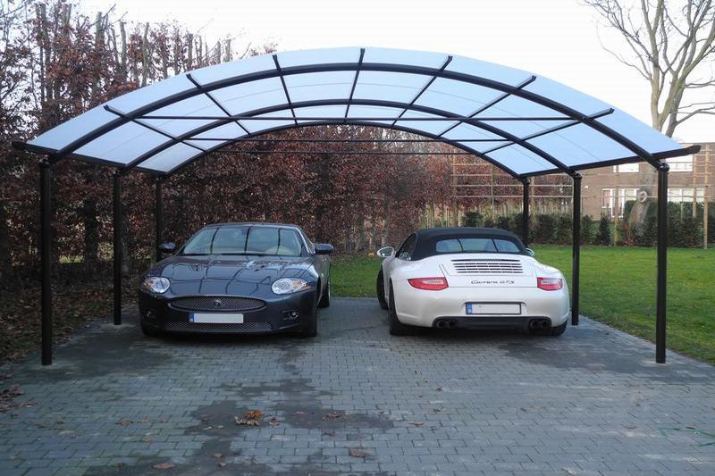 aluminium carport in utrecht overkapping auto. Black Bedroom Furniture Sets. Home Design Ideas