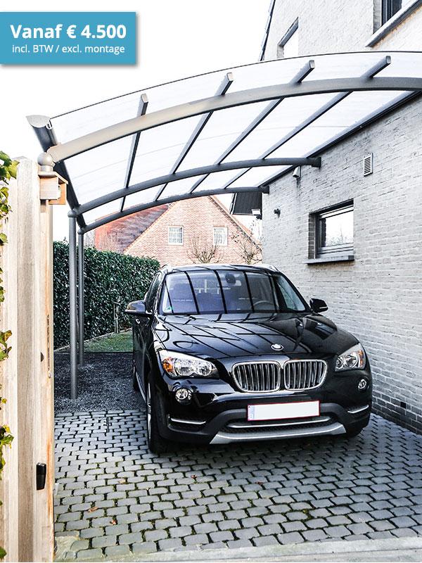 aluminium carport die je auto het hele jaar door beschermt bozarc. Black Bedroom Furniture Sets. Home Design Ideas